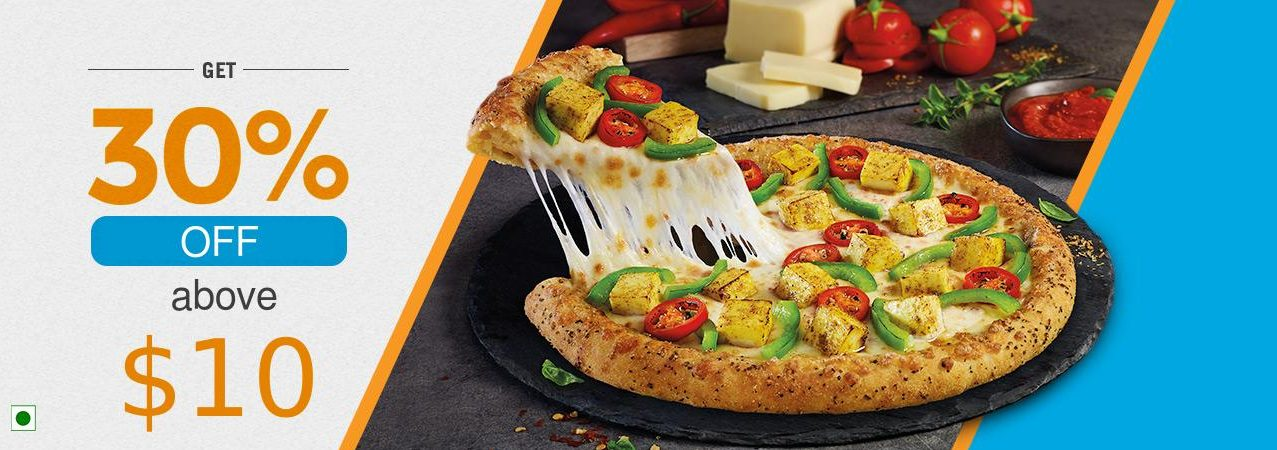 Dominos - 30% OFF on $10 and above